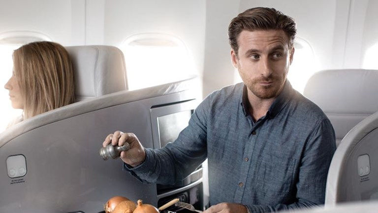 Fili in The Hobbit films, Dean O'Gorman appears in both of Air New Zealand's Hobbit-themed videos. // © 2013 Air New Zealand
