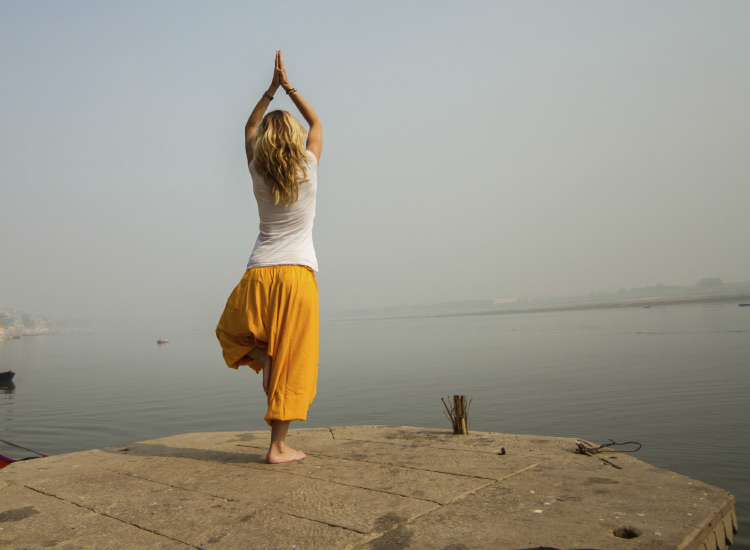 "Known as the ""Unofficial Capital of Yoga,"" Rishikesh is filled with yoga studios. // © 2014 Thinkstock"