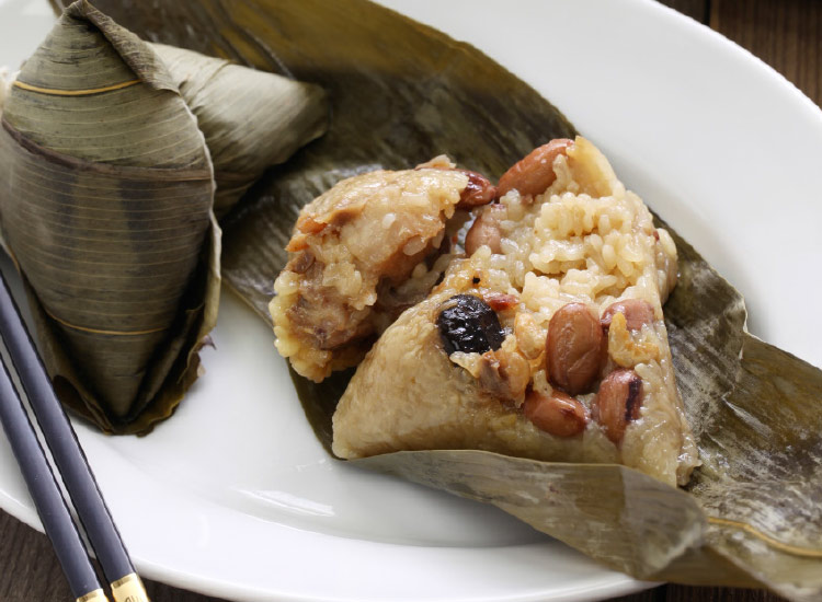 One must-try dish is zongzi, a stuffed-rice dumpling that is wrapped in bamboo. // © 2016 iStock