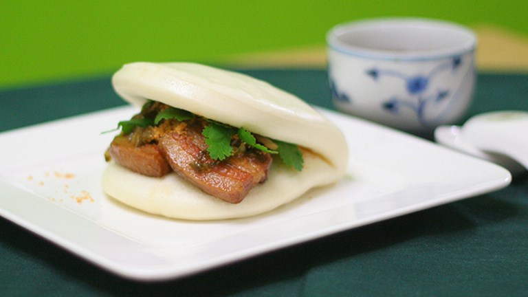 Taiwanese-style steamed buns are another dish that guests can shop for, cook and then enjoy at Ivy's Kitchen. // © 2016 Ivy's Kitchen