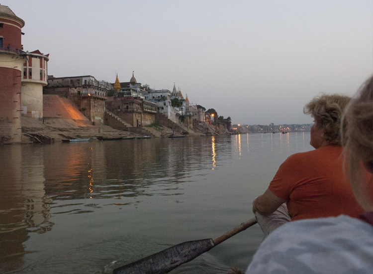 The best time to experience the spiritual energy of Varanasi is at sunrise. // © 2014 Mindy Poder