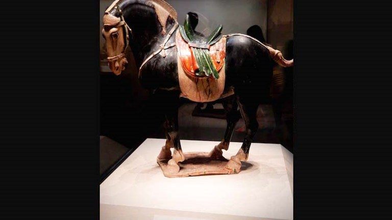 Among the National Museum of China's treasures is this painted pottery horse from the Tang dynasty. ‬// © 2014 Shane Nelson