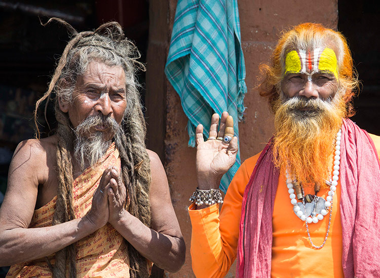 Sadhus, pilgrims and locals all congregate at Pashupatinath Temple along the banks of the holy Bagmati River. // © 2015 Mindy Poder