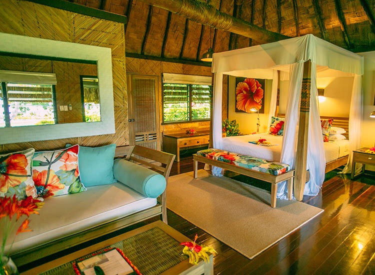 Qamea Resort and Spa houses 17 individual bungalows. // © 2016 Qamea Resort and Spa Fiji