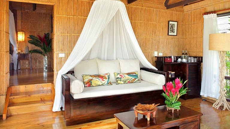 A treehouse guestroom at Matangi Private Island Resort // © 2016 Matangi Private Island Resort