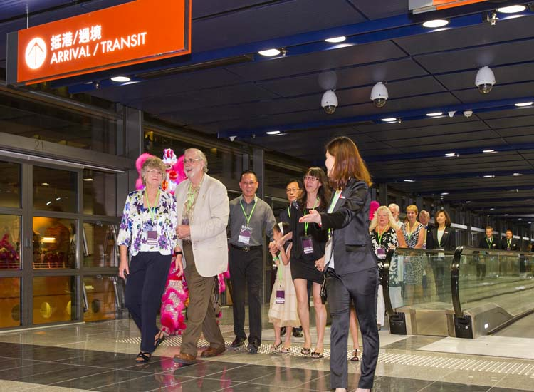 Guests at the opening ceremony had a first look at Kai Tak's facilities. // © 2013 Hong Kong Tourism Board