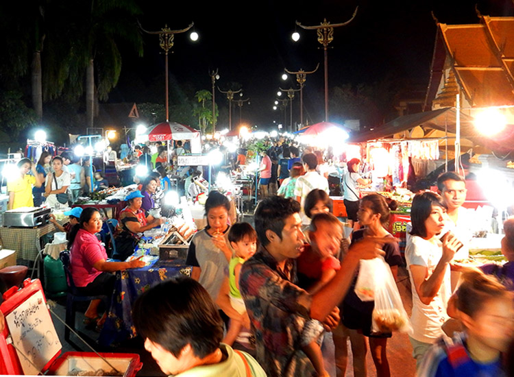 A typical night market in the Nan province of Thailand // © 2015 Shane Nelson