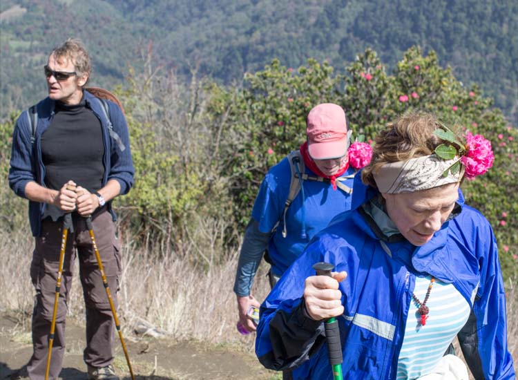 Hiking in the Annapurna mountain range is another popular option for trekkers to Nepal. // © 2015 Mindy Poder