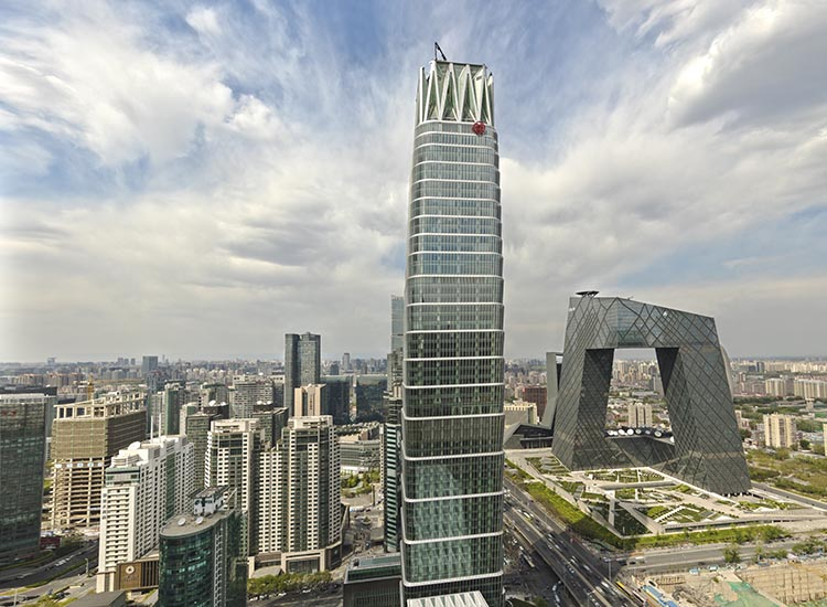 Hotel Jen in Beijing is part of the city's China World Trade Center. // © 2017 Hotel Jen