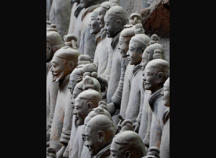 The face of each terra-cotta warrior in Emperor Qin's subterranean army is unique. // © 2015 Shane Nelson