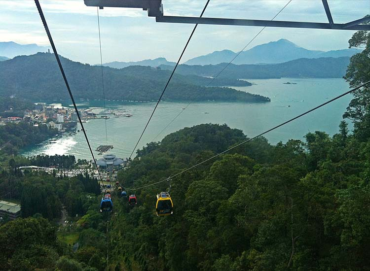 Admission to the Sun Moon Lake Ropeway is about $10 and offers some of the area's best views. // © 2014 Mindy Poder