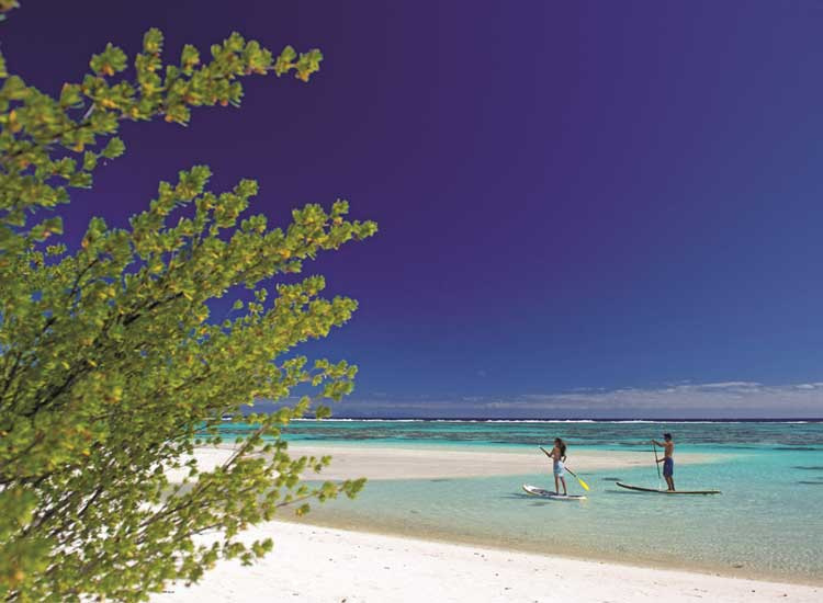 Rates for The Brando include equipment for watersports activities, such as paddleboarding. // (c) 2014 The Brando