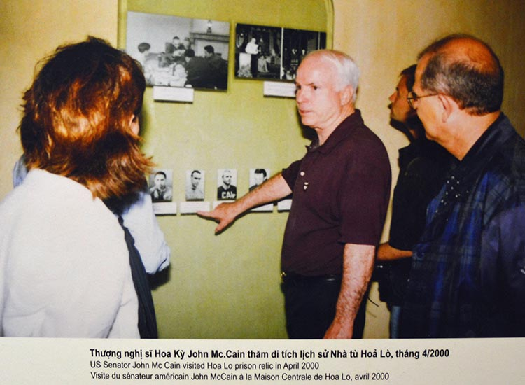 Senator John McCain visits Hoa Lo Prison after it is turned into a museum. // © 2016 Marilyn Jones