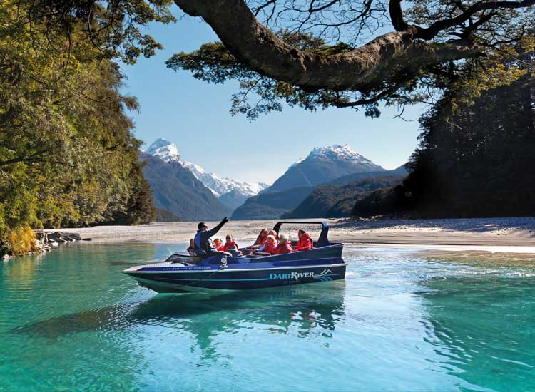 Dart River Jet takes clients deep into Mount Aspiring National Park on the only tours allowed on the Dart River, passing multiple Middle-earth filming locations along the way. // © 2014 Dart River Jet