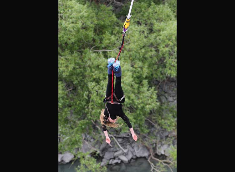 More than 400,000 people jump off the Kawarau Bridge each year. // © 2014 AJ Hackett