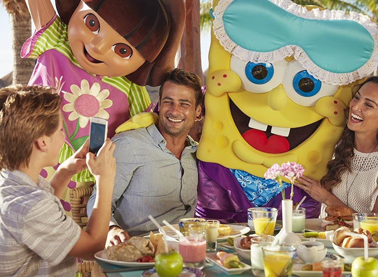 The all-new Nickelodeon Hotels & Resorts Punta Cana features Character Central, where guests will find various Nickelodeon characters such as SpongeBob SquarePants. // © 2016 Nickelodeon Hotels & Resorts Punta Cana