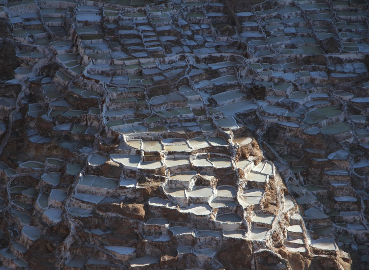 Locals have mined salt at the Salineras de Maras salt evaporation ponds since before Inca times. // © 2014 Megan Leader
