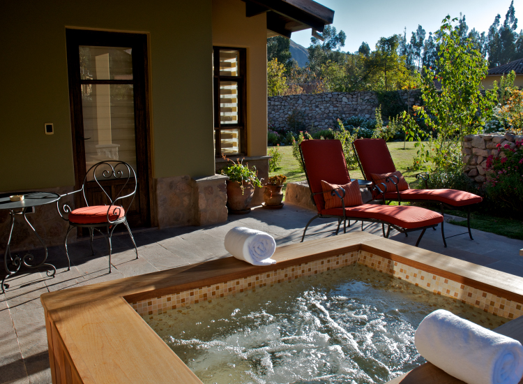 Each Sol & Luna casita features its own outdoor terrace with seating, and some also feature outdoor heated whirlpools and soaking tubs. // © 2014 Sol & Luna Lodge and Spa