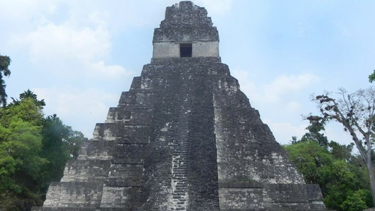 Tikal Temple I, Temple of the Great Jaguar, is a Guatemala icon wherein lies Ah Cacao, one of the great Maya rulers. // (c) 2013 ASTA YPS