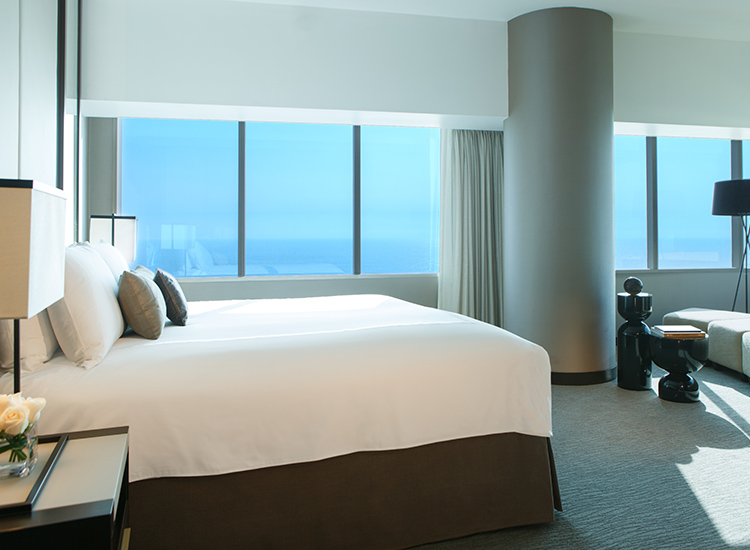 Rooms are spacious, and many have views of the Pacific Ocean. // © 2015 JW Marriott Hotel Lima