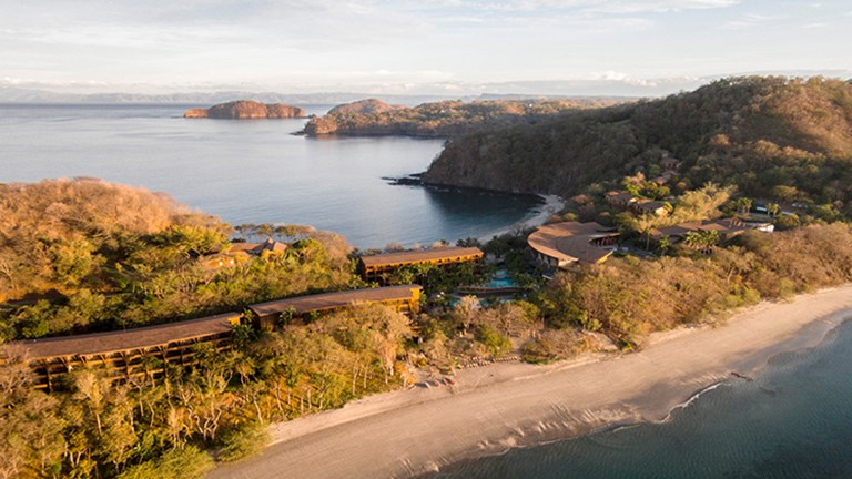 Flanked by two white-sand beaches, Four Seasons Resort Costa Rica at Peninsula Papagayo is a sprawling 45-acre oasis. // © 2015 Four Seasons Resort Costa Rica at Peninsula Papagayo