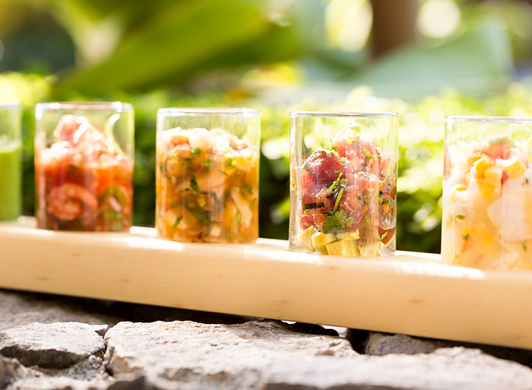 Fresh ceviche is sure to be a hit with hungry guests. // © 2015 Four Seasons Resort Costa Rica at Peninsula Papagayo