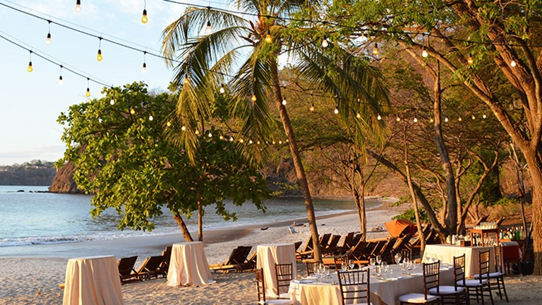 Four Seasons Costa Rica staff can arrange charming private events on the adjacent beach. // © 2015 Valerie Chen