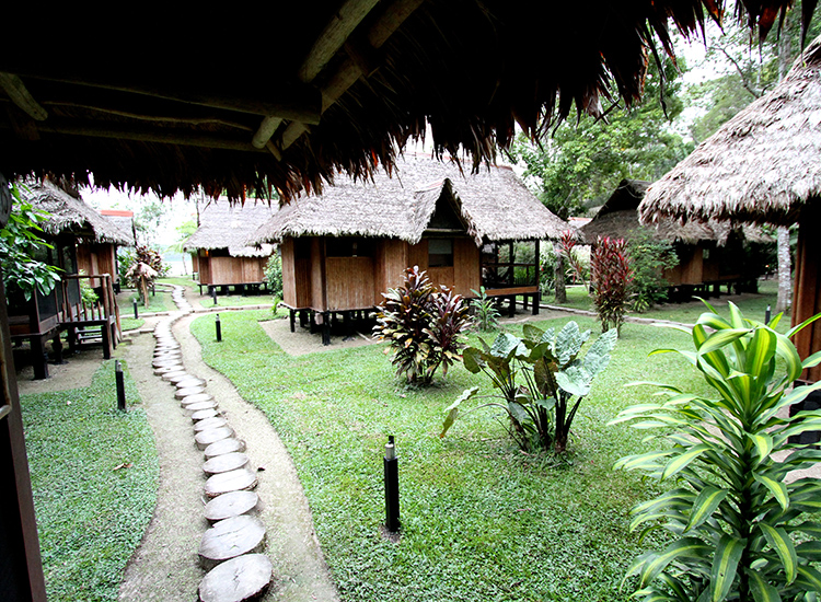 Cabanas Dot The Grounds At Inkaterra Reserva Amazonica, A Jungle Lodge In  The Heart Of