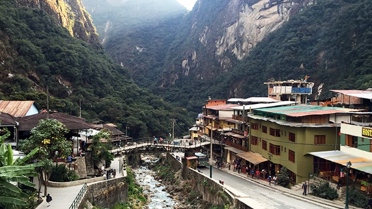 Spend time in Aguas Calientes before heading to Machu Picchu in the morning. // © 2015 Valerie Chen