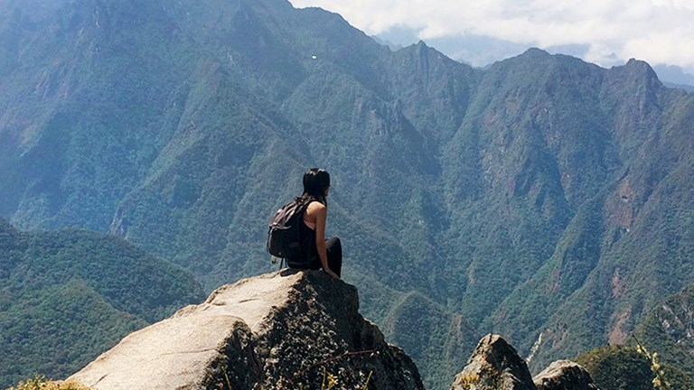 Climb to the top of Huayna Picchu for a birds-eye view of the ruins. // © 2015 Valerie Chen