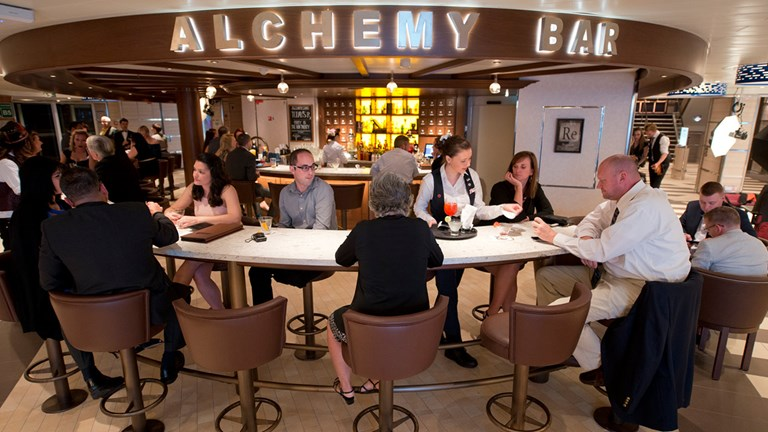 For more adults-only fun, head to Alchemy Bar, and ask a mixologist to make you a handcrafted drink.