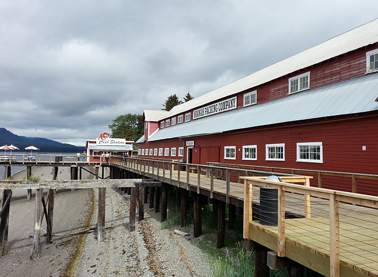Icy Strait Point, a popular cruise ship destination in Alaska, was once home of a salmon cannery. // © 2014 Monica Poling