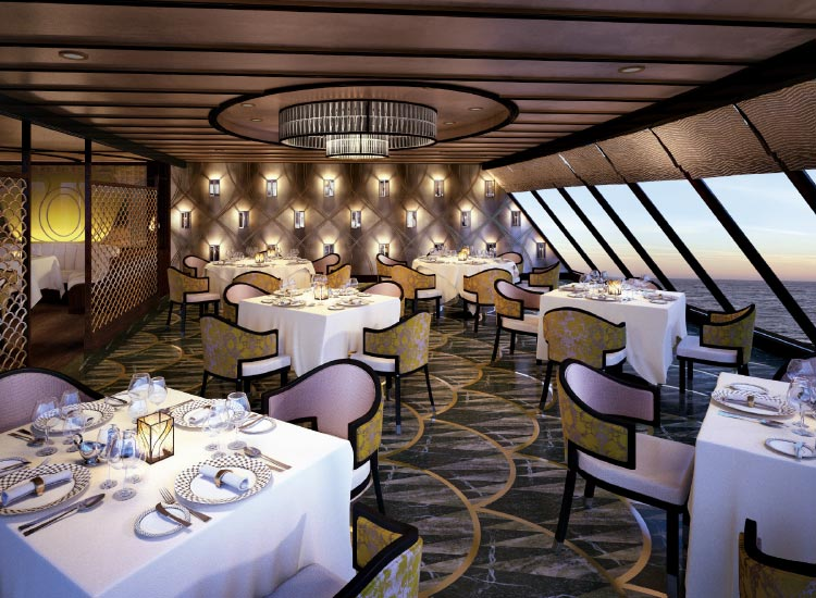Among other choices, Explorer will feature French cuisine at Chartreuse restaurant. // © 2016 Regent Seven Seas Cruises