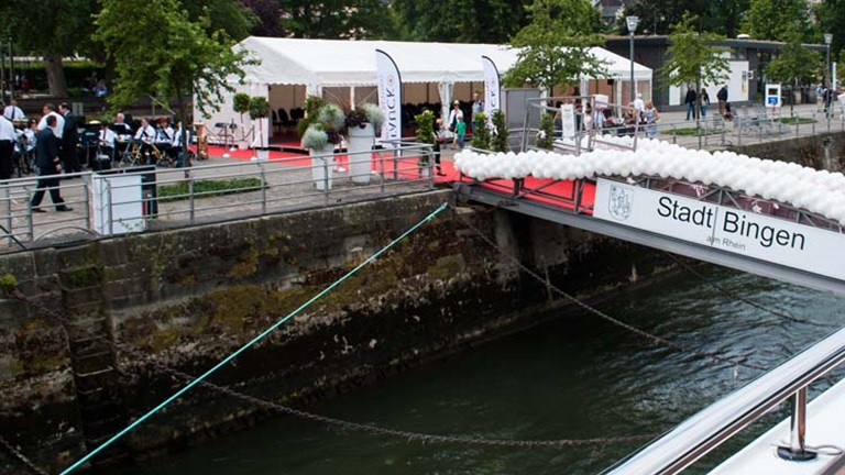 The Tauck Savor, the second ship in the Inspiration Class, was christened in Bingen am Rhein, Germany. // © 2014 Mindy Poder