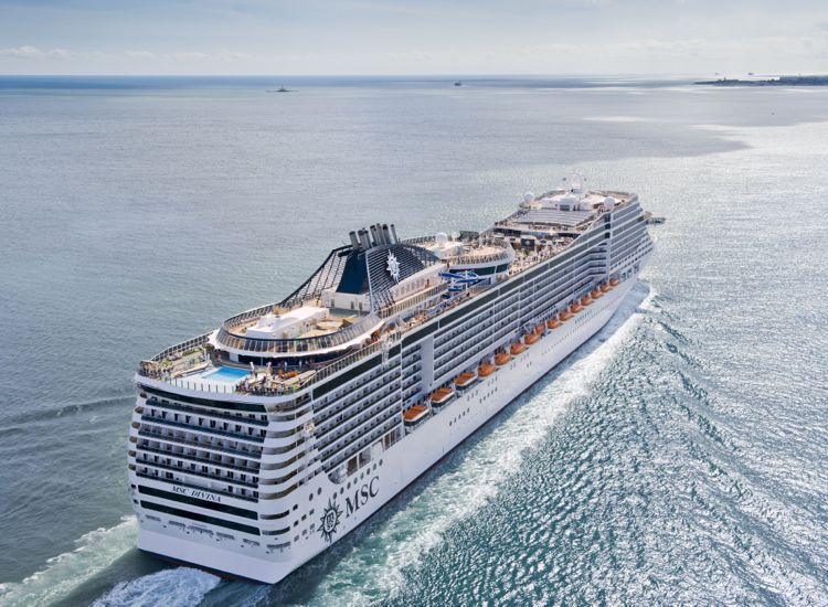 The 3,502-passenger Divina will operate year-round Caribbean cruises. // © 2013 MSC Cruises