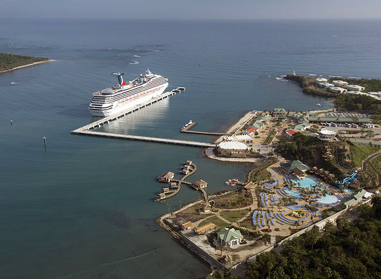 The 25-acre port facility, located in the Dominican Republic's Puerto Plata, welcomed its first ship on Oct. 6. // © 2015 Carnival Corporation & plc