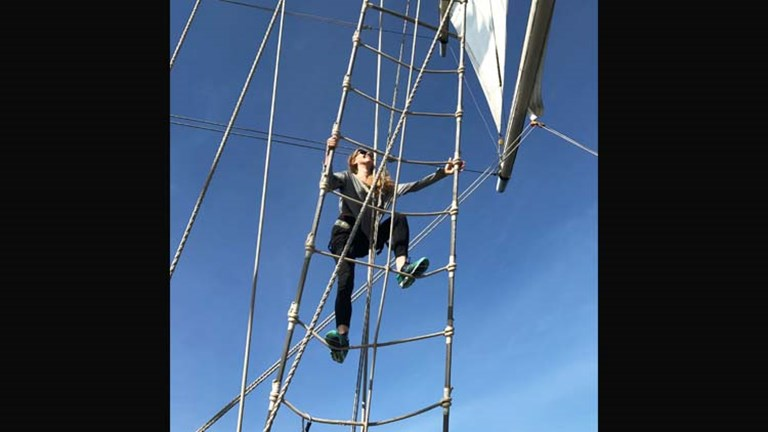 Climbing the mast is another popular activity onboard Star Clippers' ships. // © 2017 Charu Suri