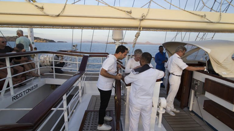 Guests can even steer the ship with assistance from a crew member. // © 2017 Mindy Poder