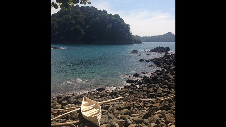 Costa Rica boasts gorgeous beaches and coves, such as this one in Quepos. // © 2016 Michelle Juergen