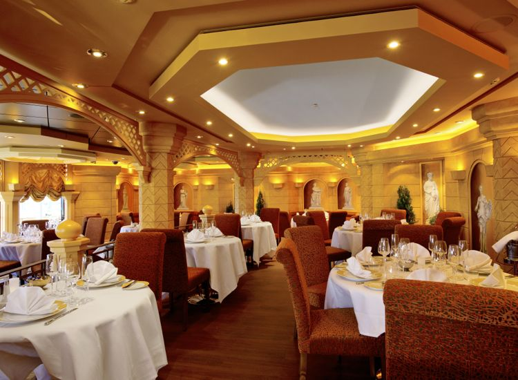 A private restaurant serves Yacht Club guests. // © 2013 MSC Cruises