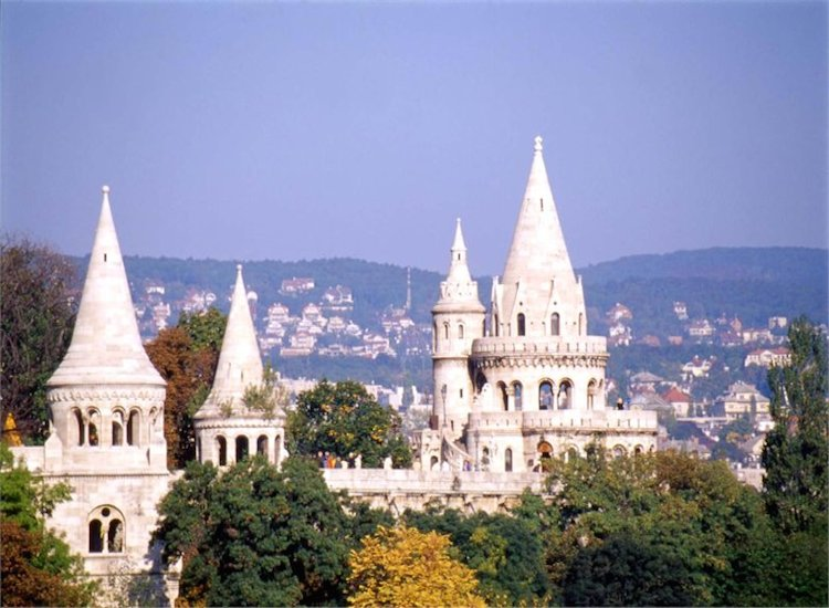 The distinctive spires of Fisherman's Bastion are designed to recall the tents of the early Magyar tribesmen, ancestors of today's Hungarians. // © 2014 Hungarian National Tourist Office