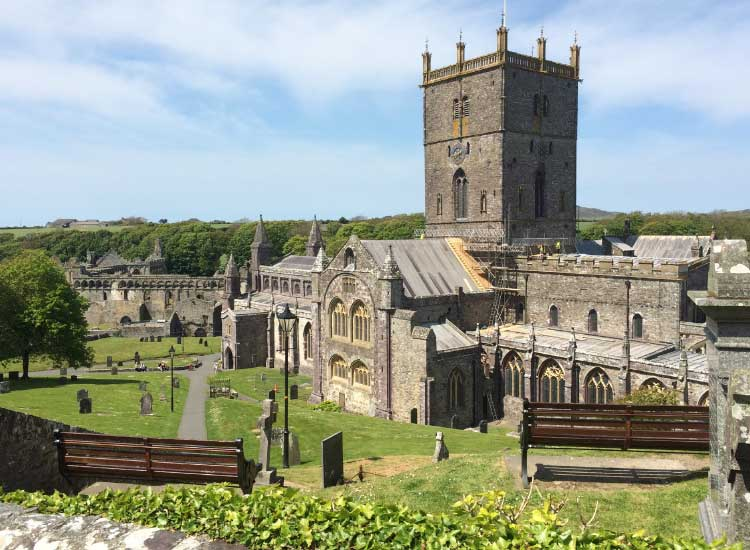 CIE stops at St. David's Cathedral, a major pilgrimage site in Wales. // © 2014 Mindy Poder