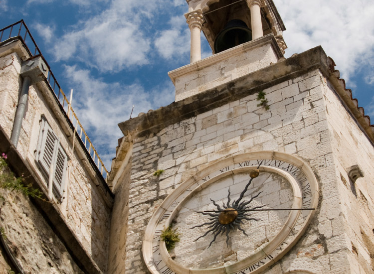 The city clock is a medieval landmark in Split's Old Town. // © 2016 iStock
