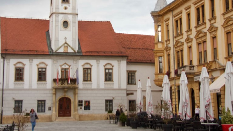 Varazdin, a quaint and quiet city in northern Croatia, sees few tourists. // © 2016 Megan Leader