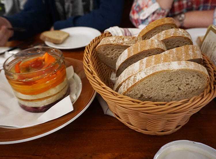 Spread the Czech version of Camembert over slices of bread. // © 2016 Valerie Chen