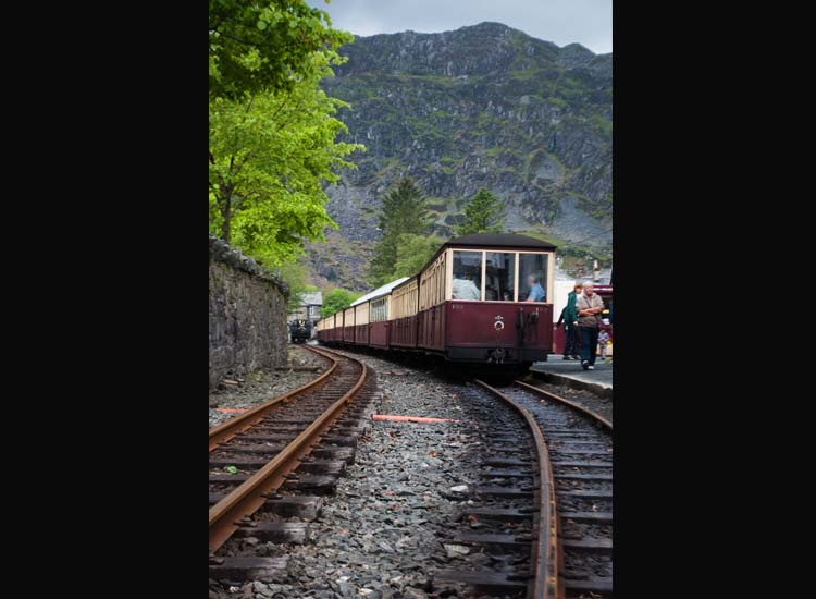 A highlight on Wales itineraries is a ride on the 151-year-old Ffestiniog Railway through Snowdonia National Park. // © 2014 Mindy Poder