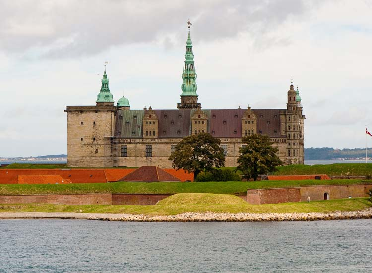 "A 45-minute train ride from Copenhagen takes travelers to Kronborg Castle, a UNESCO World Heritage Site that is believed to have been the inspiration for the castle in Shakespeare's ""Hamlet."" // © 2014 Thinkstock"