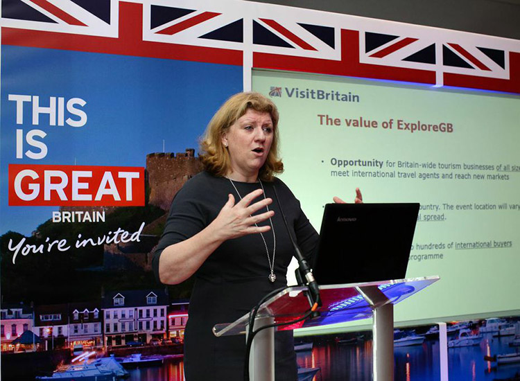 Sally Balcombe joined VisitBritain as CEO in September 2014. // © 2015 VisitBritain