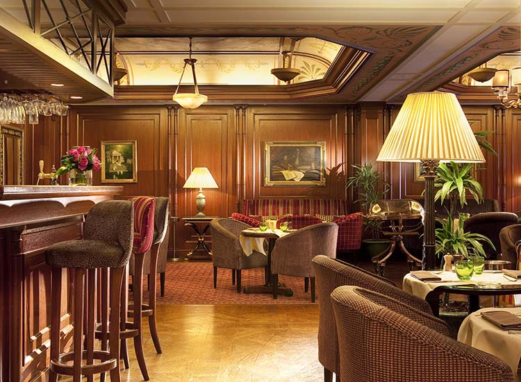 Guests can order traditional French fare at the on-site restaurant. // © 2016 Hotel Napoleon