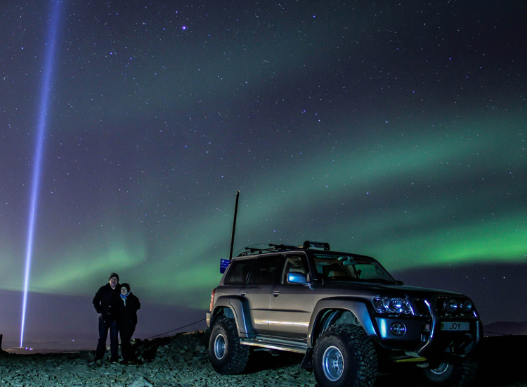 The Discover the Northern Lights tour includes off-roading on the top of Ulfarsfell Mountain. // © 2014 Flosi Photography/Discover Iceland
